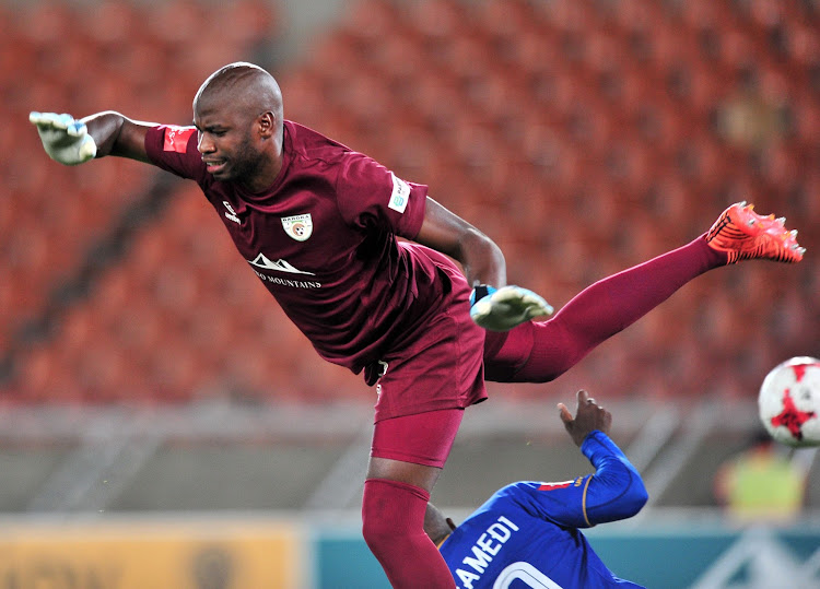 Baroka FC goalkeeper Ayanda Dlamini could be in trouble after attempting to assault a ball boy during the Limpopo derby Absa Premiership match against Polokwane City at Peter Mokaba Stadium, Polokwane on August 18 2018.