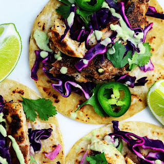 Blackened Fish Tacos with Red Cabbage Slaw Recipe