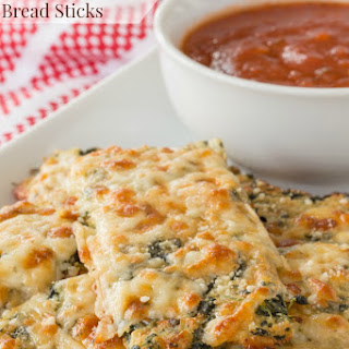 Spinach Artichoke Cheesy Cauliflower Bread Sticks