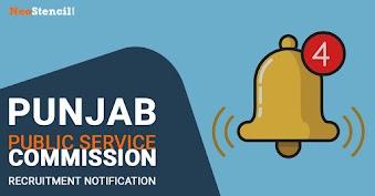 Punjab Public Service Commission Recruitment Notification 2020