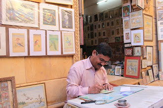 Photo: One of the many talented artists of Rajasthan