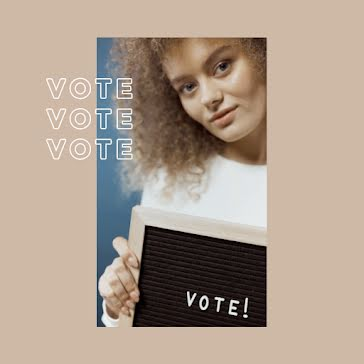 Multiracial Voter Says Vote - Instagram Post Template