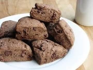 Chocolate Lover's Nutty Fudgey Scones