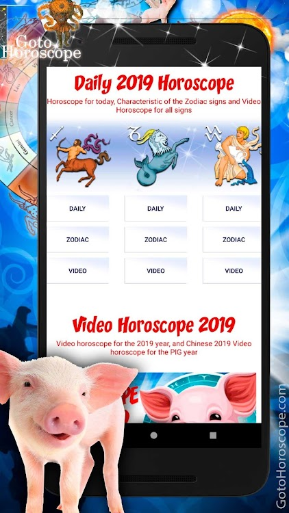 Horoscope 2019 - Chinese new year 2019 of the Pig – (Android