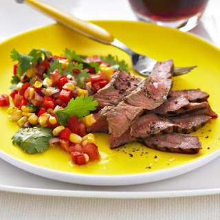 Steak with Corn Salsa Argentinian-Style