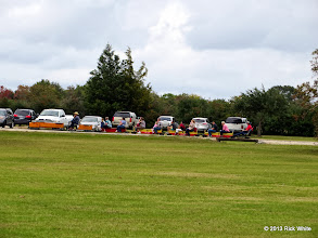 Photo: Parking lot is past full with parking on the grass.       2013-1116 RPW