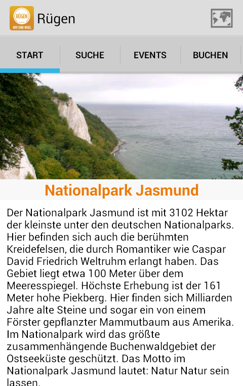 Rügen-App- screenshot