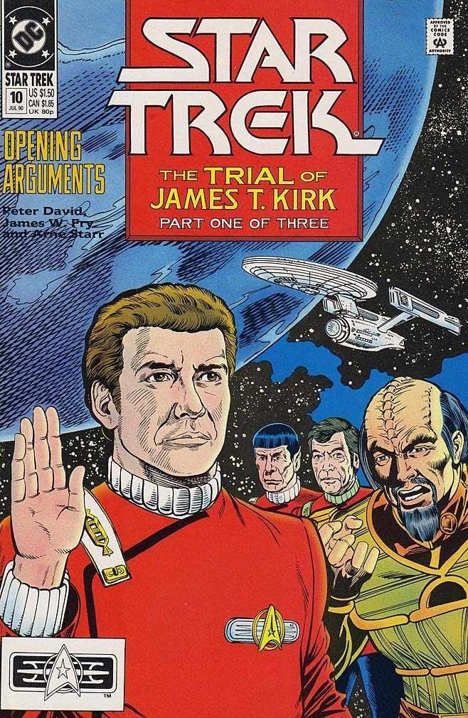 "STAR TREK #10-12 ""The Trial Of James T. Kirk"" complete story (STAR TREK  (1989 DC)): Peter David, James W. Fry III, Gordon Purcell: Amazon.com: Books"