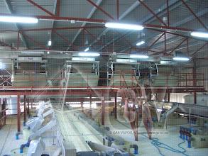 Photo: Gas Vapor S.L. - www.gv.iei.es Instalación de Áreas de Recepción y Cocido-Cinta de Reparto a Fermentadores
