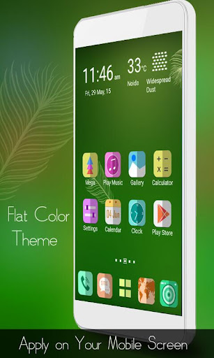 Flat Color Mega Launcher Theme