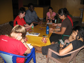 Photo: Our own little common area at the KSP Hotel in Gulu.