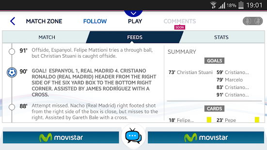 Real Madrid App- screenshot thumbnail