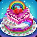 Unicorn Rainbow Cake Maker Bakery : Cooking Game icon