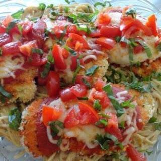 Chicken Parmesan & Creamy Tomato & Basil Spaghetti.
