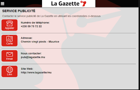 La Gazette App- screenshot thumbnail