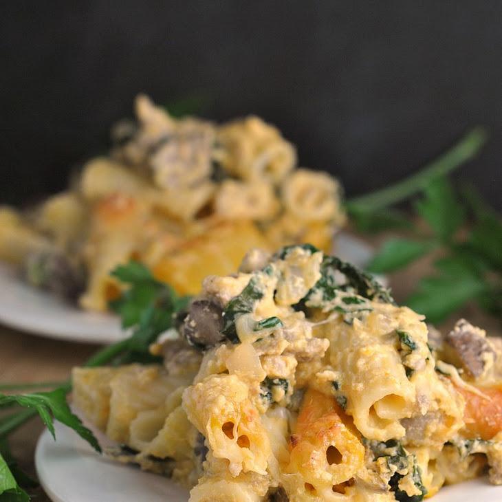 Pumpkin, Kale, and Sausage Pasta Bake Recipe   Yummly