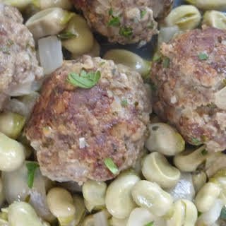 Israeli Meatballs with Broad Beans.