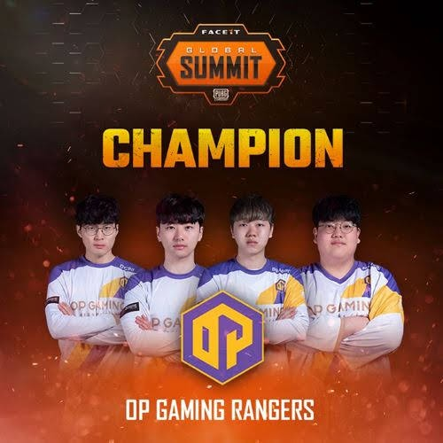 'OP Rangers' won First FACEIT Global Summit: PUBG Classic Battle(FGS) 2019