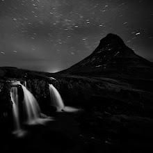 Photo: Waterfall by night