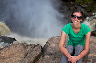 Photo: During a road trip to the Congo coast, Hilsinger takes a breaks in front of the Zongo Falls.