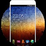 Theme for Galaxy A7: Fancy Comics HD Wallpaper Icon
