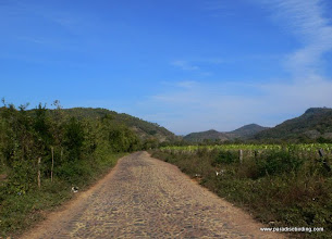 Photo: Cobblestone road distracting us from the road to San Blas