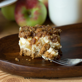 Caramel Apple Streusel Cheesecake Bars