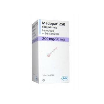 Madopar 250Mg Tabletas   Caja X30Tab. Rochelevodopa Benserazida