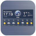 Digital clock and weather widget icon