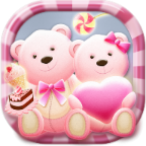 Cute Bear love  honey with Pink hearts DIY Theme