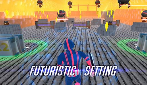 Télécharger Parkour Robot Race Runner 2049 - PvP Multiplayer apk mod screenshots 4