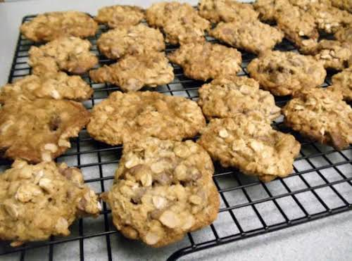 "Oatmeal Double Chocolate Chip Cookies""My son was munching on one and said,..."