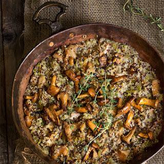 Creamy Mushroom And Leek Quinoa Risotto {mascarpone + Thyme}