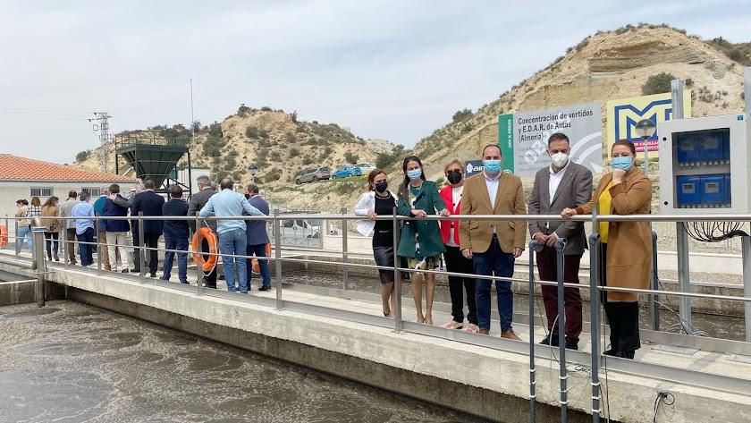 Inauguración de la EDAR, hoy en el municipio de Antas.