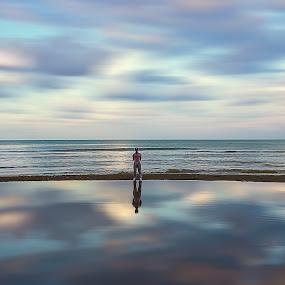 reflection by Yılmz Doğn - Landscapes Beaches ( sky, view, reflection, clouds, landscape, sea )