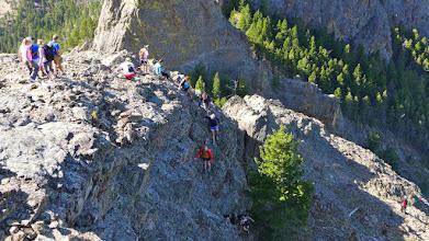 Photo: Down-climbing