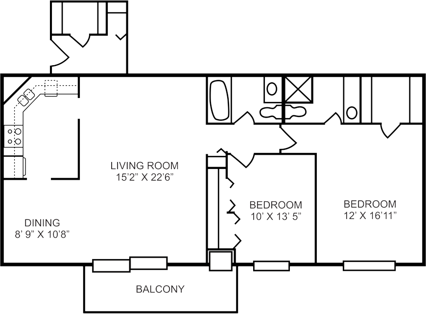 franklin pierce floorplan  2 bed  2 bath