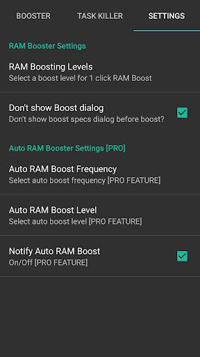 RAM Control eXtreme Pro Aplikácie pre Android screenshot