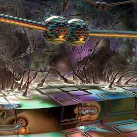 Beyond The Barrier by Rick Eskridge - Illustration Sci Fi & Fantasy ( fantasy, jwildfire, mb3d, fractal, twisted brush )