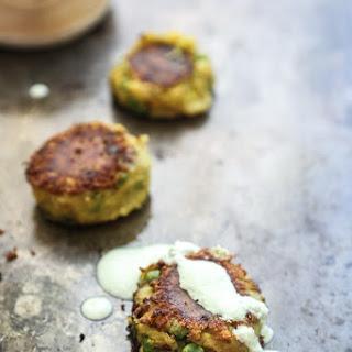 Samosa-Style Leftover Mashed Potato Cakes with Ginger-Scallion Yogurt.
