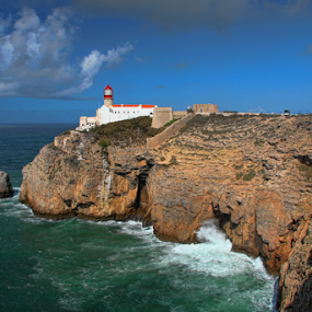 Cabo Sao Vicente by Dominic Jacob - Landscapes Waterscapes ( see, cabo, cliff, lighthouse, phare, portugal,  )
