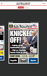 New York Post for Tablet- screenshot thumbnail
