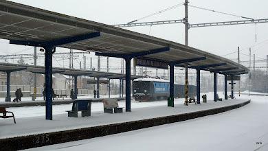 Photo: Bratislava: Hauptbahnhof / 1 Güterzug auf Durchreise