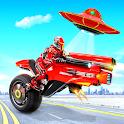 Flying Moto Robot Hero Hover Bike Robot Game icon
