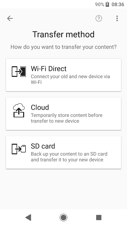 Xperia Transfer Mobile- screenshot