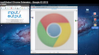 Photo: input/output is featured as an app in the Chrome Web Store, as well as on Chrome Experiments. Thanks for adding a Chrome Extension to the mix! http://goo.gl/Hl3RZ