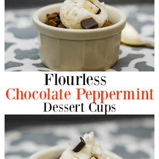 Flourless Chocolate Peppermint Cups