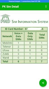 PK Sim Detail - náhled
