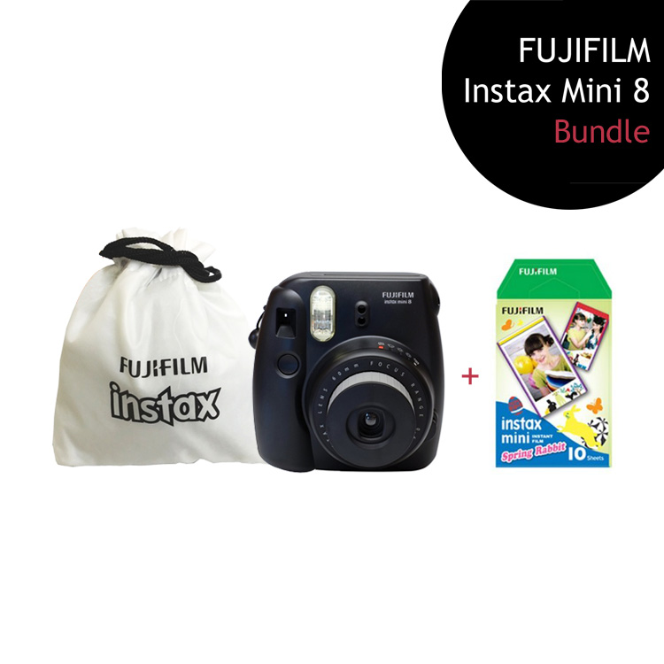 [Bundle] FUJIFILM Instax Mini 8 Camera (Black) + Spring Film Pack + Instax Pouch by My Pocket Net Sdn Bhd