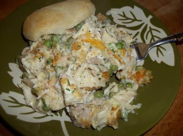 Creamy Chicken Over Biscuits - Cass's Recipe